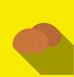 Potato icon flate singe vegetables icon from the vector