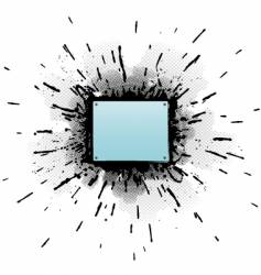 splatter element vector image vector image