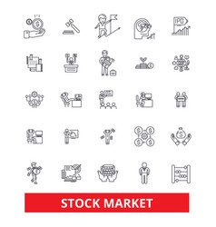 Stock market wall street exchange investment vector
