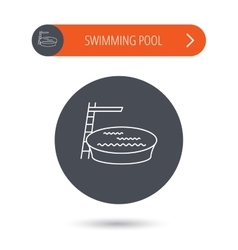Swimming pool icon Jumping into water sign vector image vector image