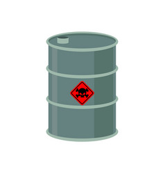 Toxic waste barrel radioactive industry garbage vector