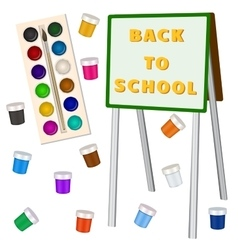 Art school background with easel vector