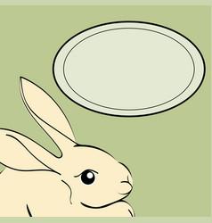 Easter rabbit animal frame text vector