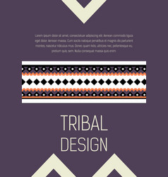 tribal ethic colorful brochure flyer vector image