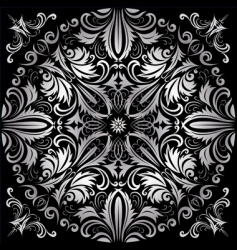 silver pattern vector image