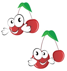 Cherry funny with big eye vector