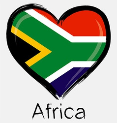 Love africa flag vector