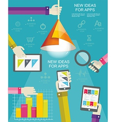 Flat design modern icons set for mobile apps vector image