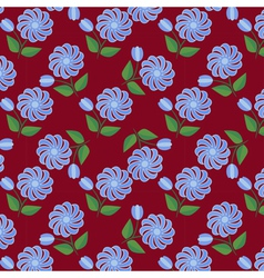 Floral seamless 2 vector image