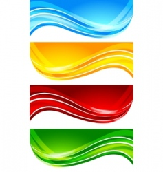 Set of abstract bright banner vector