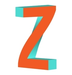 Twisted letter z logo icon design template element vector