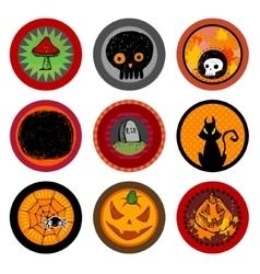 Hallooween drink coasters vector image