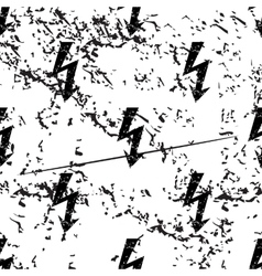 Voltage lightning pattern grunge monochrome vector