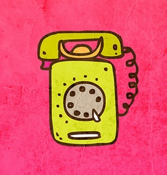 Telephone cartoon vector