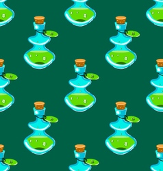 Seamless pattern with potion-2 vector