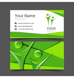 Business card for your business in the material vector