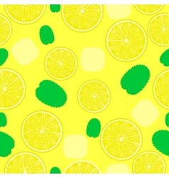 Lemonade pattern Seamless background for coctails vector image