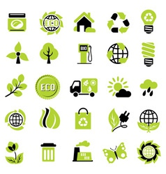 set eco signs vector image