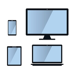 Phone monitor tablet laptop isons vector