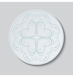 Plate with ornament vector