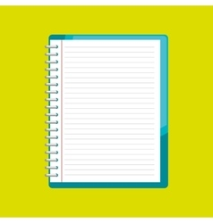 Spiral notebook isolated icon design vector