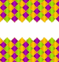 Abstract Pattern for Mardi Gras wirh Green Purple vector image vector image