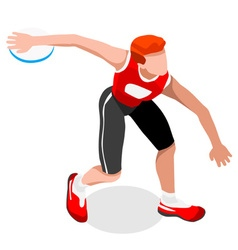 Athletics discus throw 2016 sports 3d vector