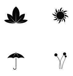Autumn icon set vector