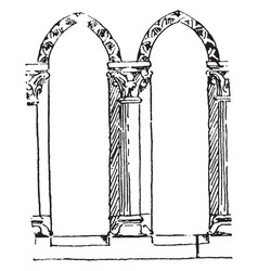 Balustrade early gothic balustrade vintage vector