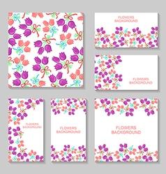 Bouquets backg set2 vector