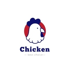 chicken head logo vector image vector image