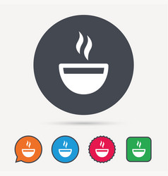 Coffee cup icon hot tea drink sign vector