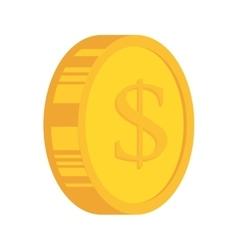 coins gold money cash vector image