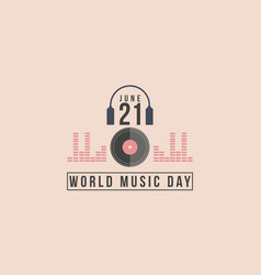 Collection of celebration world music day vector