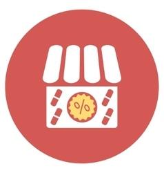 Drugstore sale flat round icon vector