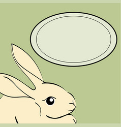 easter rabbit animal frame text vector image vector image