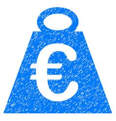 Euro weight standard grunge icon vector