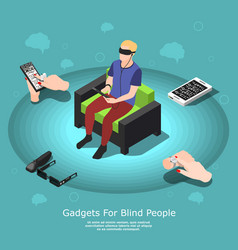 gadgets for blind composition vector image