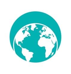 Globe world eart map symbol vector