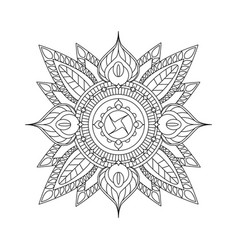 Indian mandala isolated on white background for vector