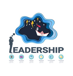 Leadership skills infographic template vector