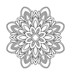 Mandala floral decorative element vector