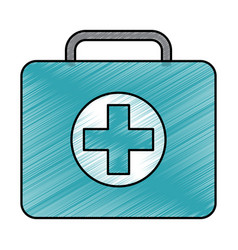 Medical kit first aid emergency case vector
