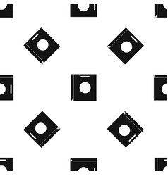 Paper bag pattern seamless black vector