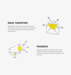 promote and email targeting marketing business vector image vector image