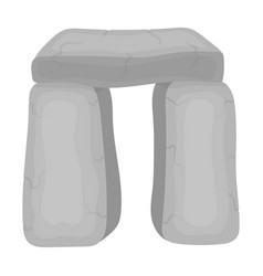 Scottish stone monument icon in monochrome style vector