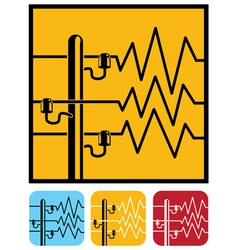 Symbols of power lines vector