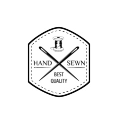 The Hand Sewing Stripe Needle Thread Sewing Studio vector image vector image