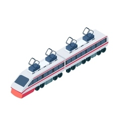 Train icon in cartoon style isolated on white vector image