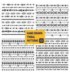 Tribal hand drawn backgrounds vector image